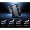4TB AData HD830 Extreme Durable USB3.1 Portable Hard Drive - Aluminum/Silicone - Black Image