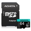 64GB AData Premier Pro microSDXC CL10 UHS-I U3 V30 A2 Memory Card with SD Adapter Image
