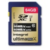 64GB Integral UltimaPro X Gold SDXC 95MB/sec CL10 UHS-1 U3 Memory Card Image
