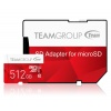 512GB Team Color microSDXC CL10 UHS-I Memory Card w/SD Adapter Image